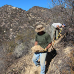 Dedicated Volunteers working on Luci's Trail on the Valley View Preserve