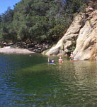 visiting swimming hole w kids