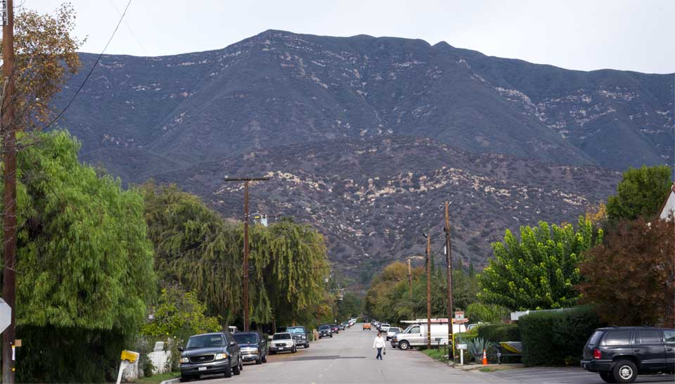 Valley View Preserve from Fulton and Ojai Ave by Les Dublin