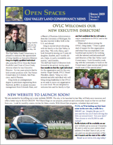 Open Spaces Newsletter – Spring 2009 (PDF)