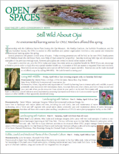 Open Spaces Newsletter – Spring 2008 (PDF)