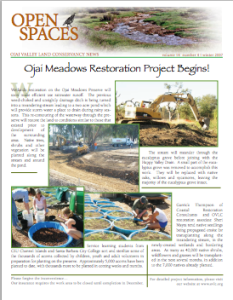 Open Spaces Newsletter – Winter 2007 (PDF)