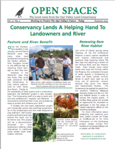 Open Spaces Newsletter-Summer 2005 (PDF)
