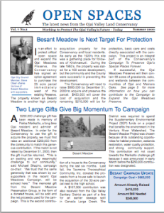 Open Spaces Newsletter – Summer 2000 (PDF)