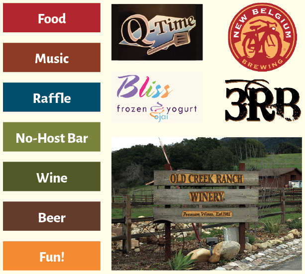 A special thank you to  Old Creek Ranch Winery for their donation of wine and to New Belgium for their donation of beer to this year's event.
